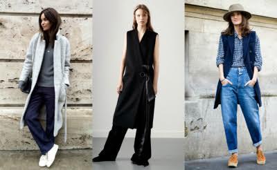 Широкие брюки на модницах