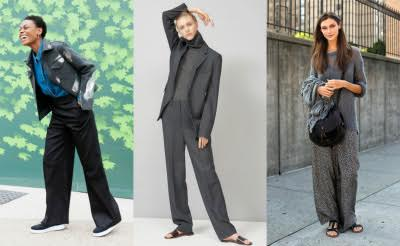 Широкие брюки и водолазка