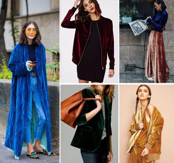 Одежда из бархата в моде