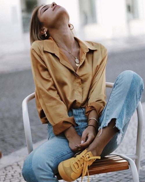 Рубашка цвета кофе с молоком