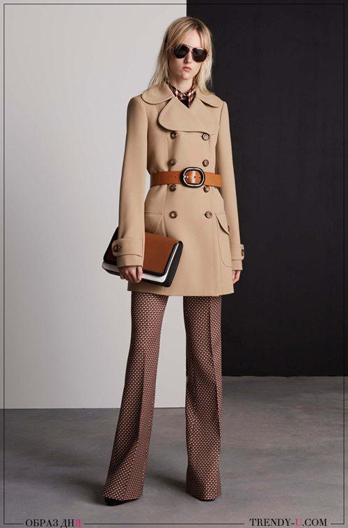 Укороченное пальто и широкие брюки от Michael Kors коллекция Resort