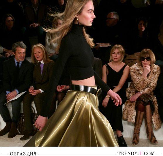 Модные образы: пышная юбка и укороченный топ