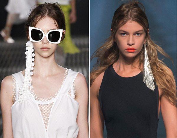 Одна серьга в коллекциях No.21 и Versus Versace весна-лето 2017