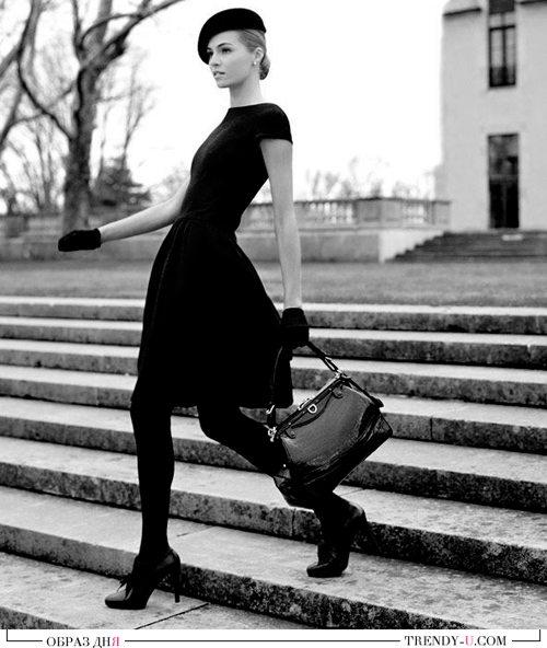 Маленькое черное платье в стиле ретро