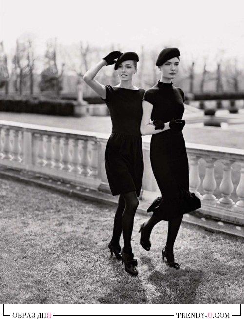 Маленькие черные платья на больших модницах