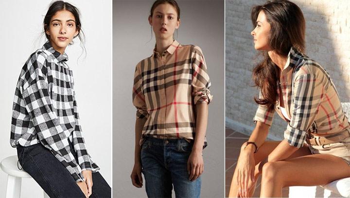 Клетчатая рубашка в сочетании с джинсами и шортами