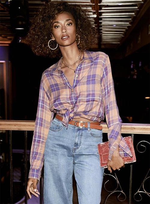 С чем носить клетчатую рубашку: с джинсами!