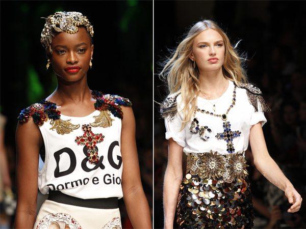 Модные украшения в виде крестов Dolce & Gabbana весна-лето 2017