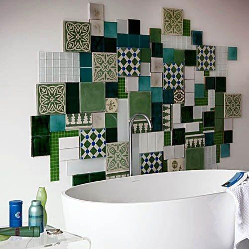 Зеленый цвет в оформлении ванной комнаты