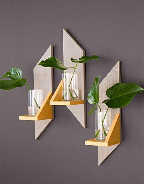 Геометрические декоративные элементы при оформлении квартиры