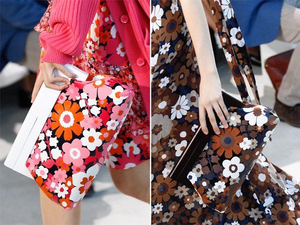 Клатчи в тон одежды из весенне-летней коллекции Майкла Корса