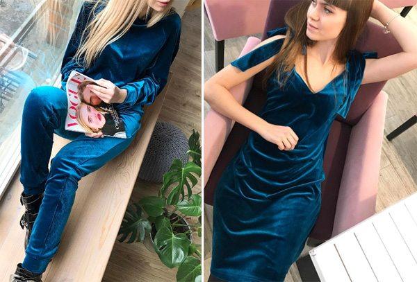 Бархатное платье и спортивный костюм от украинского бренда ONES' LV