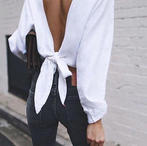 Белая блузка для лета 2017