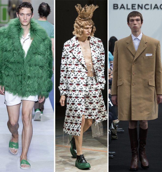 Модная мужская одежда от Dior Homme, Comme des Garçons Homme Plus и Balenciaga весна-лето 2017