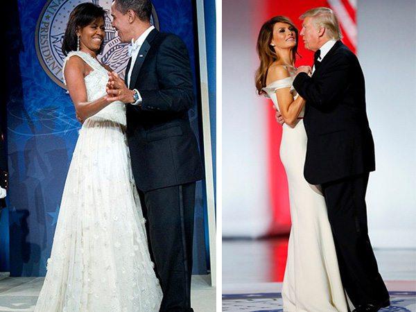 Мишель и Барак Обама | Мелания и Дональд Трамп