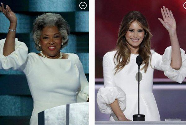 Джойс Битти и Мелания Трамп в одинаковых платьях