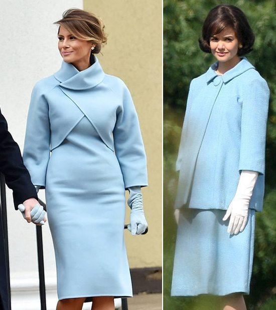 Мелания Трамп vs Жаклин Кеннеди: в голубом