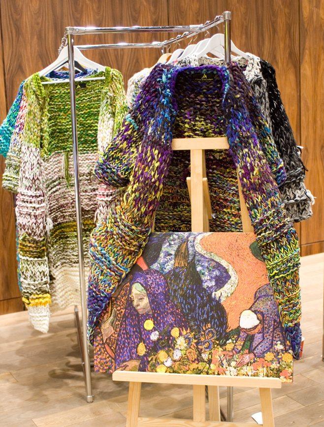 Mersedes-Benz Kiev Fashion Days 2017 & Fashion Scout Kiev: кардиганы в стилистике работы Ван Гога