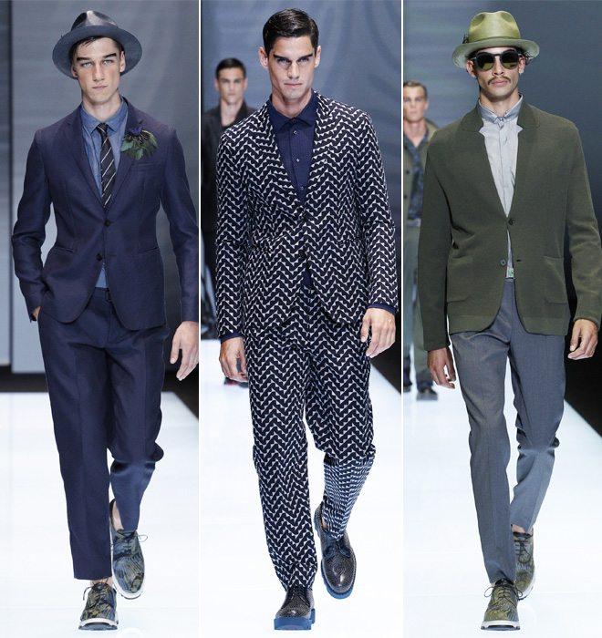 Модная мужская деловая одежда Emporio Armani весна-лето 2017