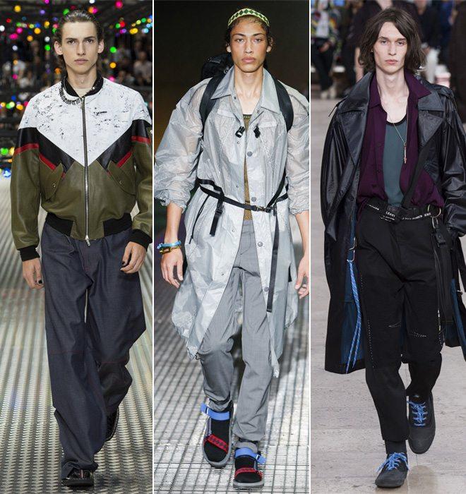 Мужская верхняя одежда в стиле оверсайз в коллекциях Dior Homme, Prada и Lanvin весна-лето 2017