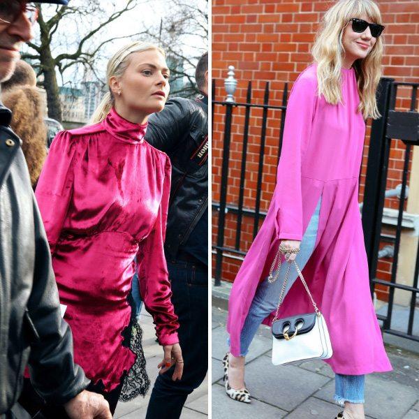Одежда цвета фуксии весной 2017
