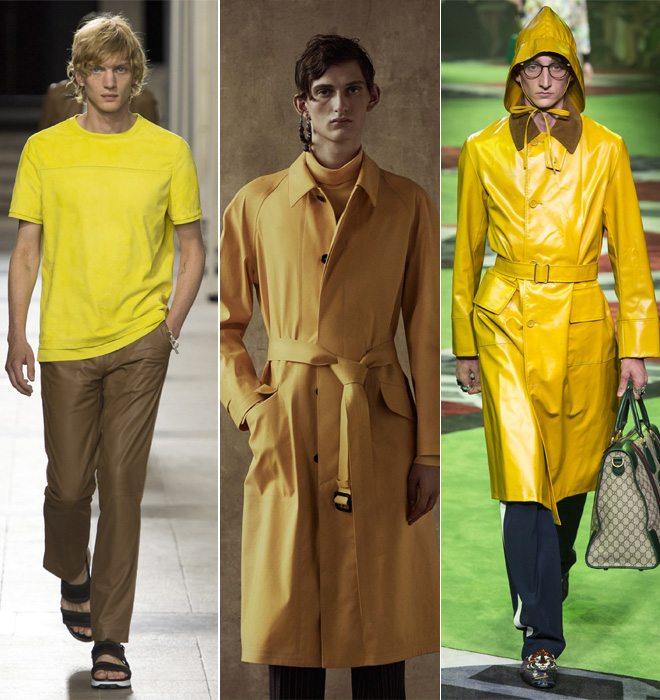 Желтый цвет в мужской одежде