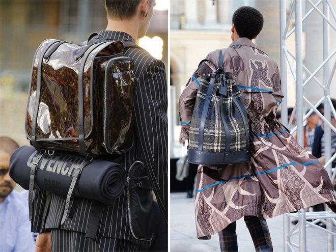Модные мужские рюкзаки Givenchy и Louis Vuitton весна-лето 2017