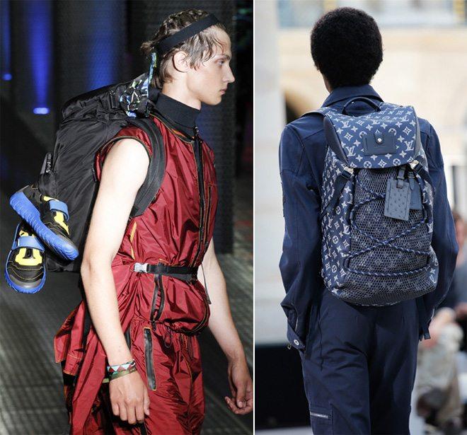 Модные рюкзаки на показах коллекций Prada и Louis Vuitton