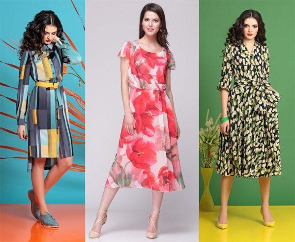 Модные платья с принтом: купить в Беларуси