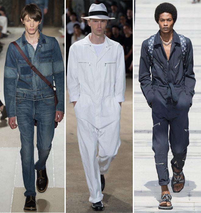 Модные мужские комбинезоны из коллекций by Valentino, Junya Watanabe, Louis Vuitton весна-лето 2017