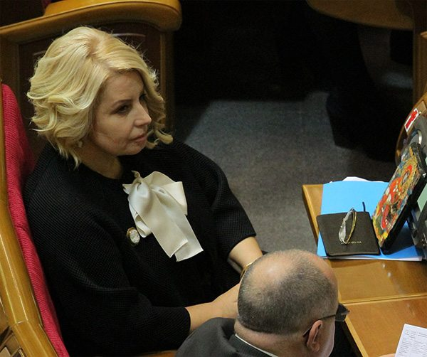 Анна Герман на заседании Верховной Рады Украины
