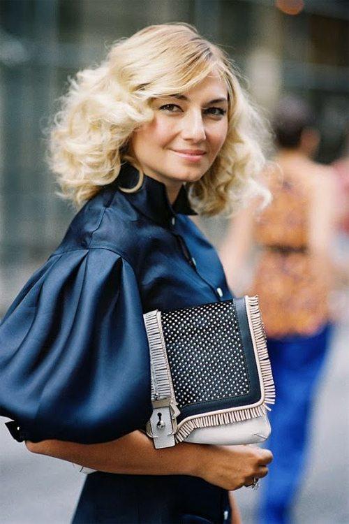 "Модная блузка из шелка с рукавами типа ""фонарик"""