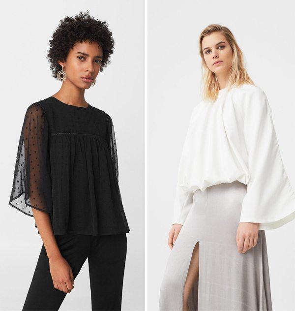 Модные блузки Манго