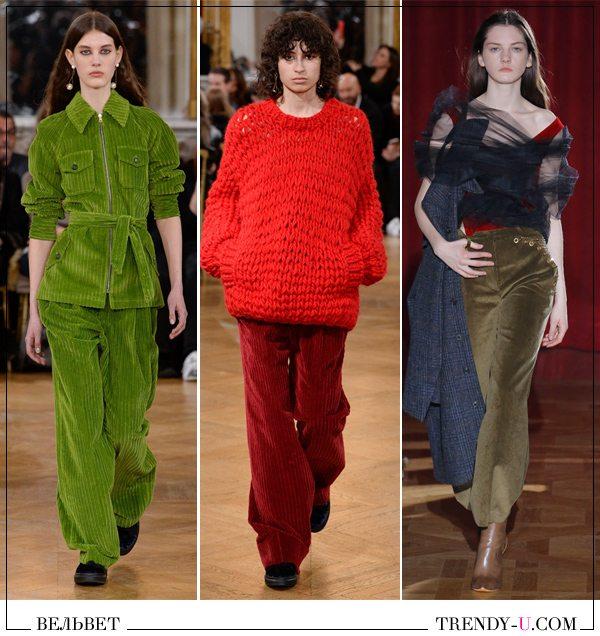 Одежда из вельвета от Paul & Joe и Y Project для осени и зимы