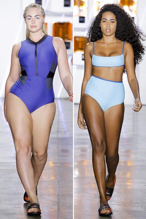 Модные купальники на полныхх моделях в коллекции Chromat весна-лето 2017