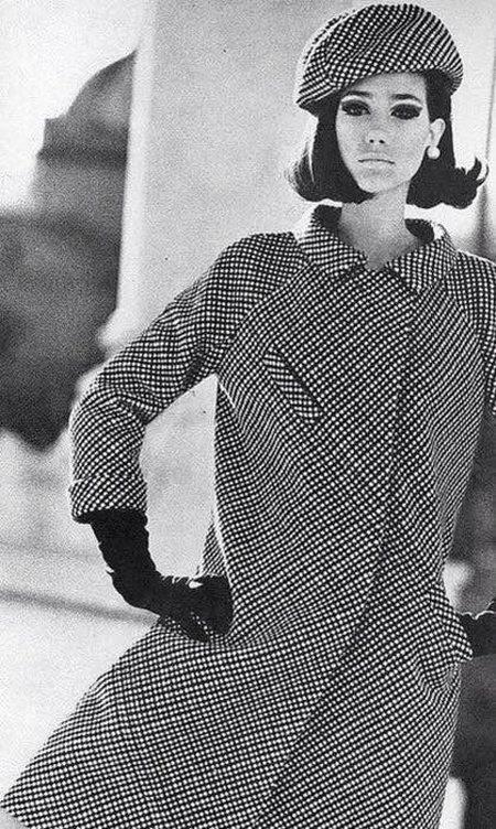 Пальто с принтом Бордер тартан, 60-е года прошлого века