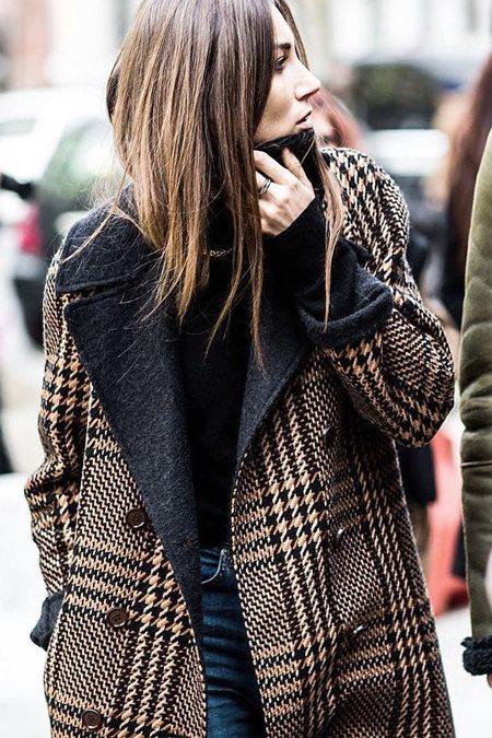 Пальто с укрупненным принтом Глентчек