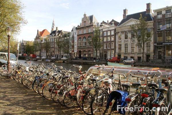В Голландии велосипедов очень много. И велосипедисток / велосипедистов воообще-то тоже