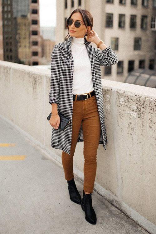 Look для осени: брюки скинни и тренч