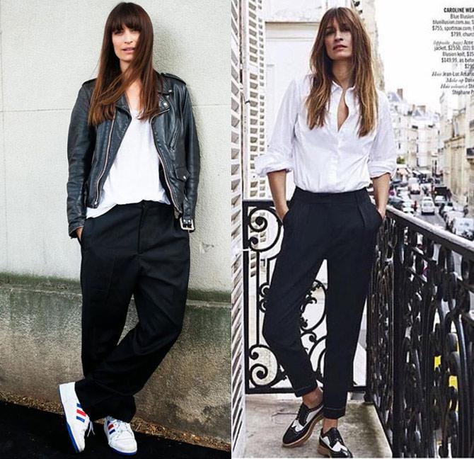 Каролин де Мегре обожает белые блузки