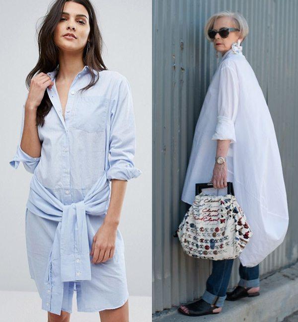 e6c154ace42 Девушка и женщина зрелого возраста в платье-рубашке