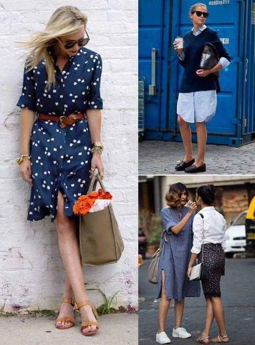 Синее и голубое платье