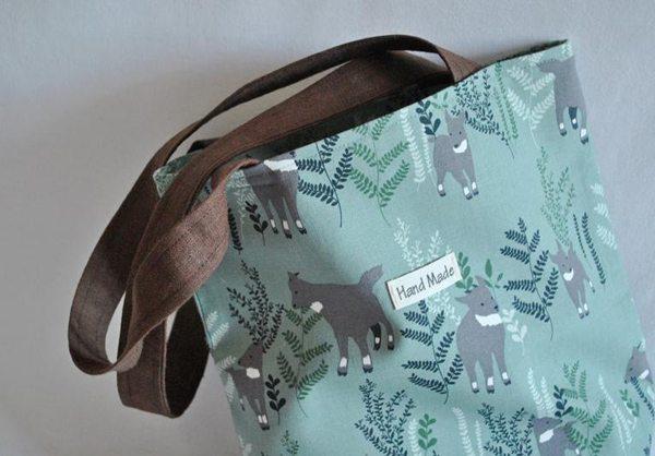 Эко-сумка с принтом ручной работы от украинского дизайнера