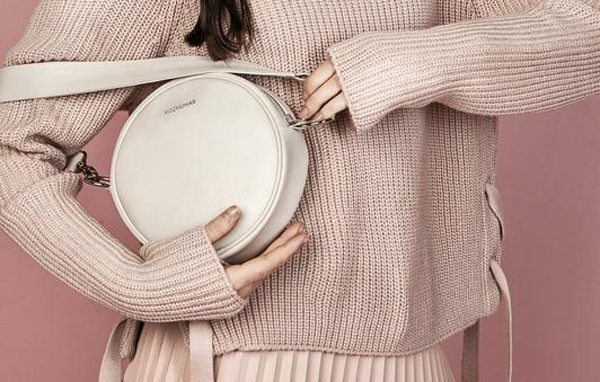 Стильная круглая сумка хендмейд от украинского дизайнера