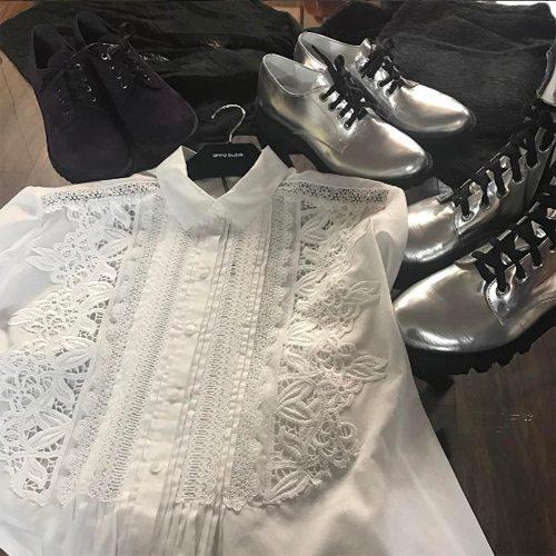 Белая блузка с шитьем от anna bublik