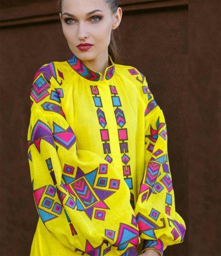 Желтая вышиванка от Татьяны Щуровой
