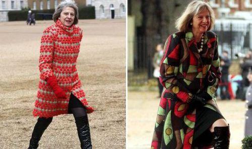 Премьер-министр Великобритании выбирает яркие пальто известных брендов