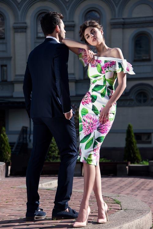 Платье с открытыми плечами Tenerife из капсульной коллекции Resort Capsule