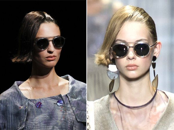 Модные солнечные очки в круглой оправе для лета 2017 от Georgio Armani