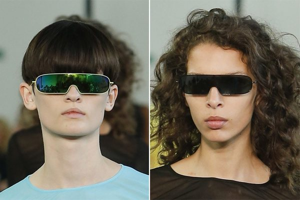 Модные солнцезащитные очки-маски от Emilio Pucci весна-лето 2017